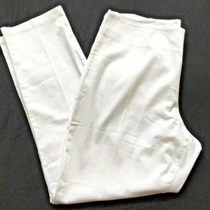 Chelsea & Theodore Pants 14  White Tapered Stretch